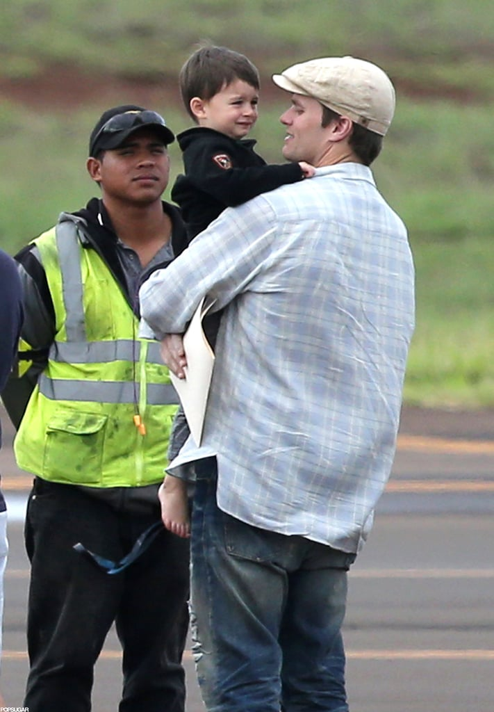 Tom Brady arrived in Hawaii for vacation with his son Benjamin.