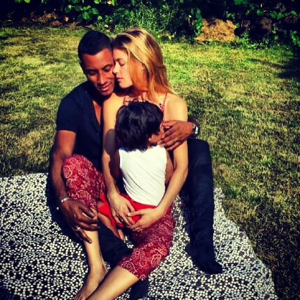 Doutzen Kroes shared an adorable photo of her family, husband Sunnery James and son Phyllon. Source: Instagram user sunneryjames