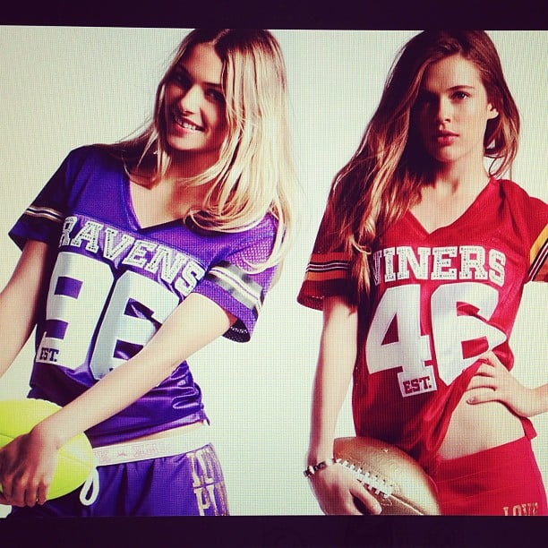 Well we never! Two Aussie girls — Jess Hart and Victoria Lee — leading the way for the Victoria's Secret Super Bowl campaign.