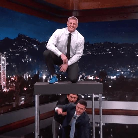 JJ Watt Box Jumps Over Jimmy Kimmel