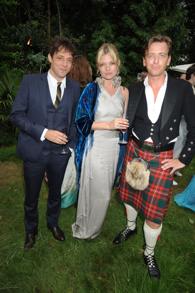 Jamie Hince and Kate Moss attended a friend's wedding reception in London in June 2008.