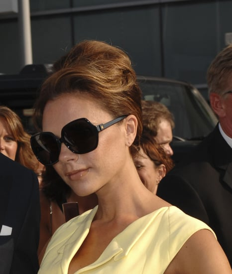 Photo of Victoria Beckham with Audrey Hepburn Inspired Up Do Hair. Celebrity Hair How To From BellaSugar UK