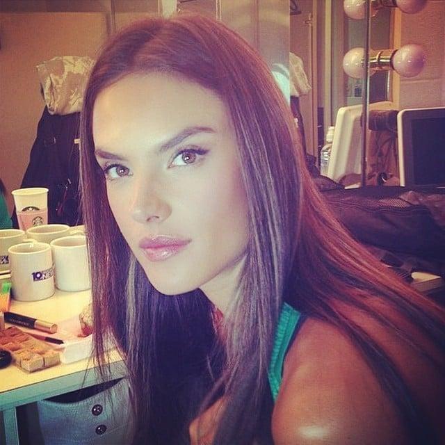 Alessandra Ambrosio showed off a minimal makeup look.  Source: Instagram user alessandraambrosio
