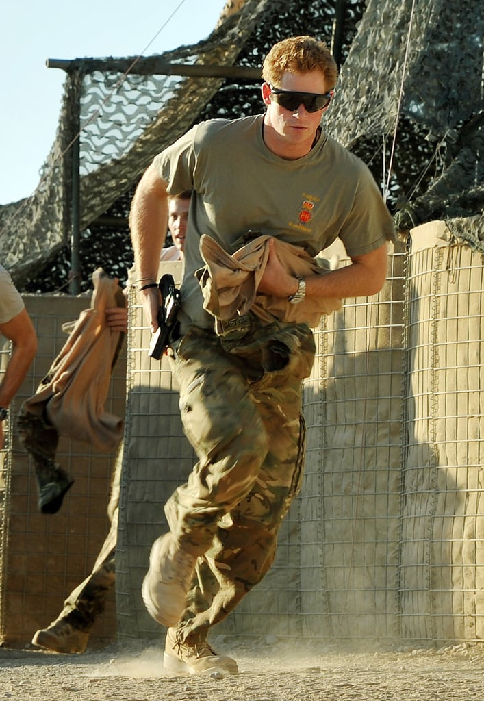 Prince Harry ran in Camp Bastion during his deployment in Afghanistan.
