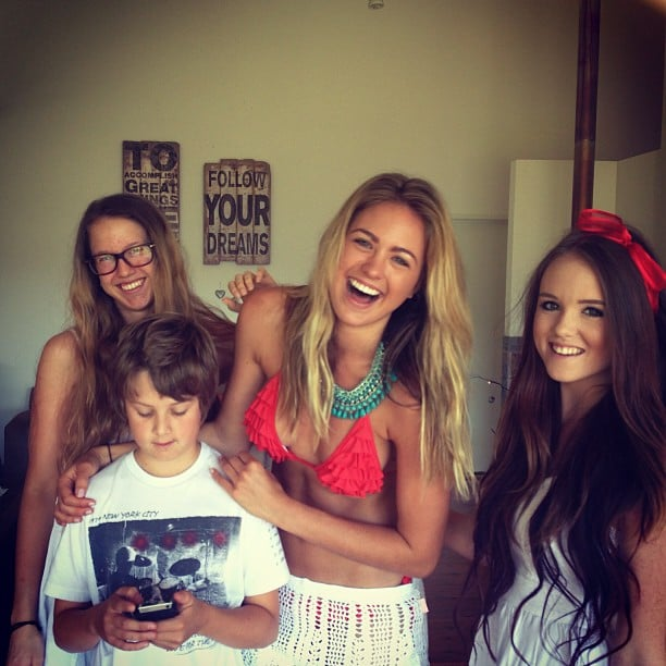 Bikini-clad Jesinta Campbell spent time with her family. Source: Instagram user jesinta_campbell
