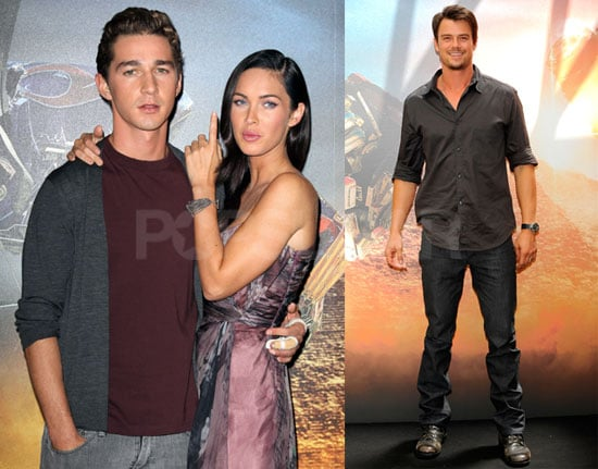 Photos of Shia LaBeouf and Megan Fox in Paris, Photos of Josh Duhamel and Tyrese in Madrid