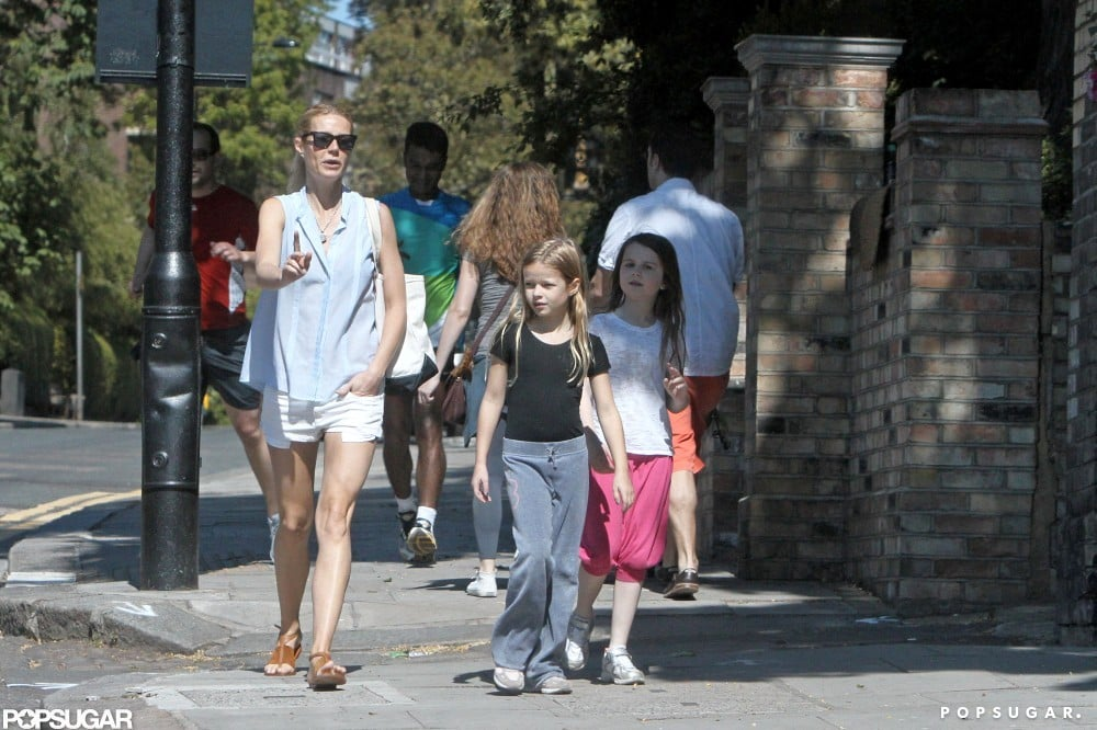 Gwyneth Paltrow was out and about with Apple and her friends in London.