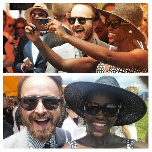 Lupita Nyong'o and Aaron Paul were adorable. Source: Instagram user lupitanyongo