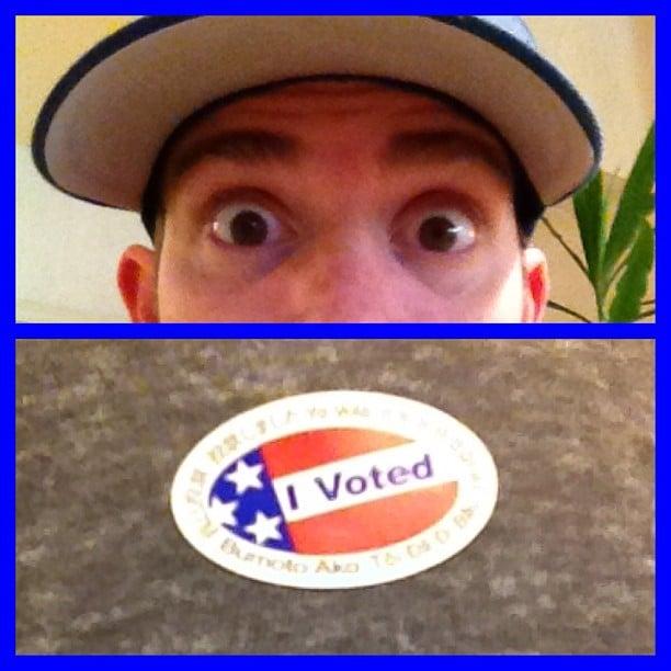 Bryan Greenberg voted and shared his sticker. Source: Instagram user bryangreenberg