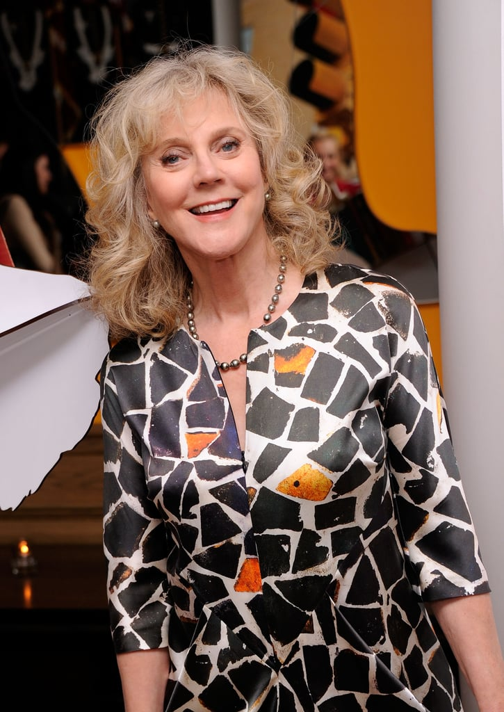 Blythe Danner gave a smile at the Cinema Society and Men's Health screening of The Lucky One in NYC.