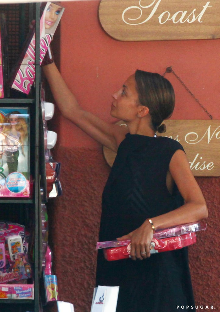 Nicole Richie checked out Barbie dolls.