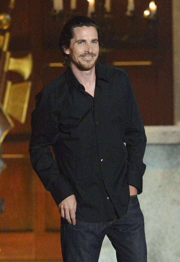 Christian Bale made an appearance at the 2012 show.