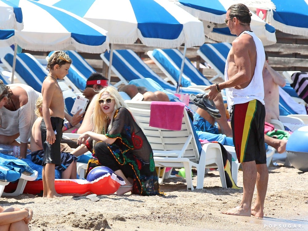 Gwen Stefani and Gavin Rossdale spent time on the beach with their son Kingston.
