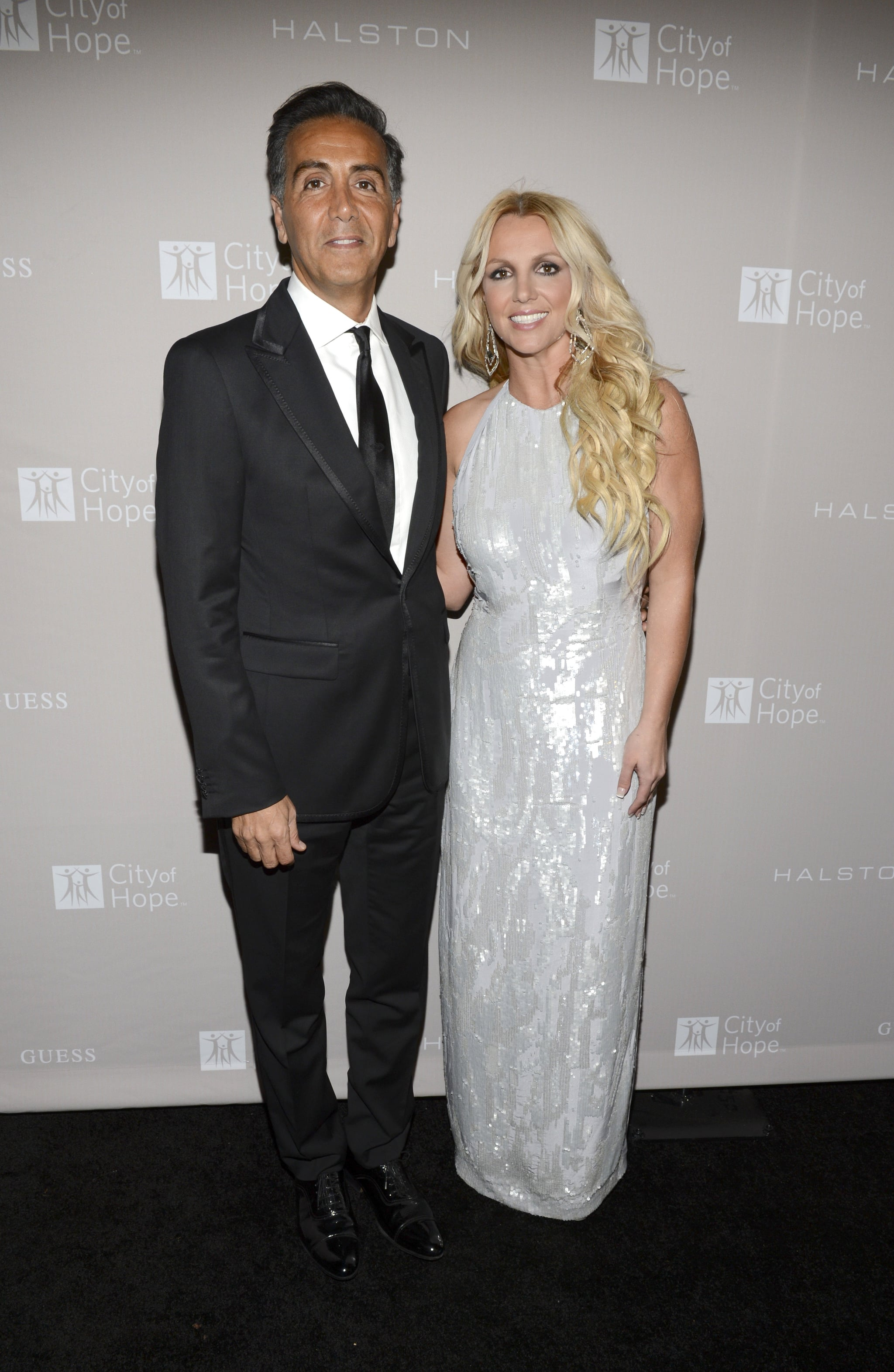 Britney Spears stepped out for the City of Hope charity's gala honoring Halston CEO Ben Malka in LA.