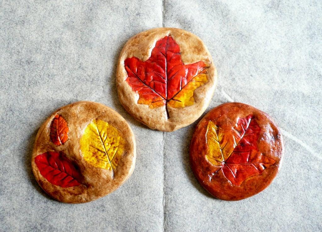 Crafts: Salt Dough Leaf Prints