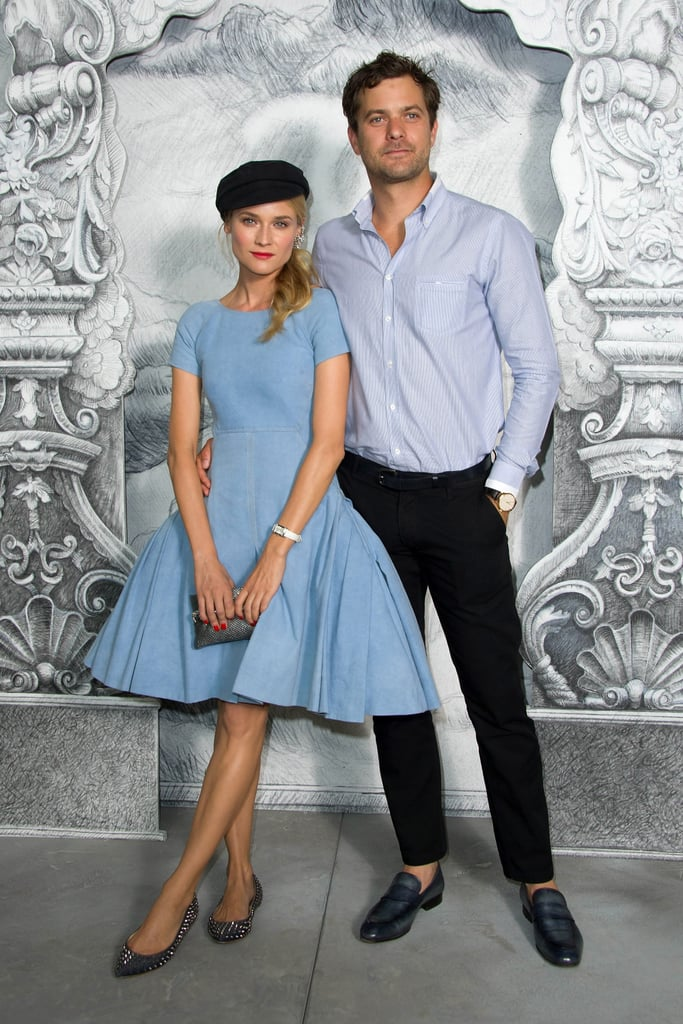 Diane Kruger and Joshua Jackson attend the Chanel show at Paris couture fashion week on July 3.