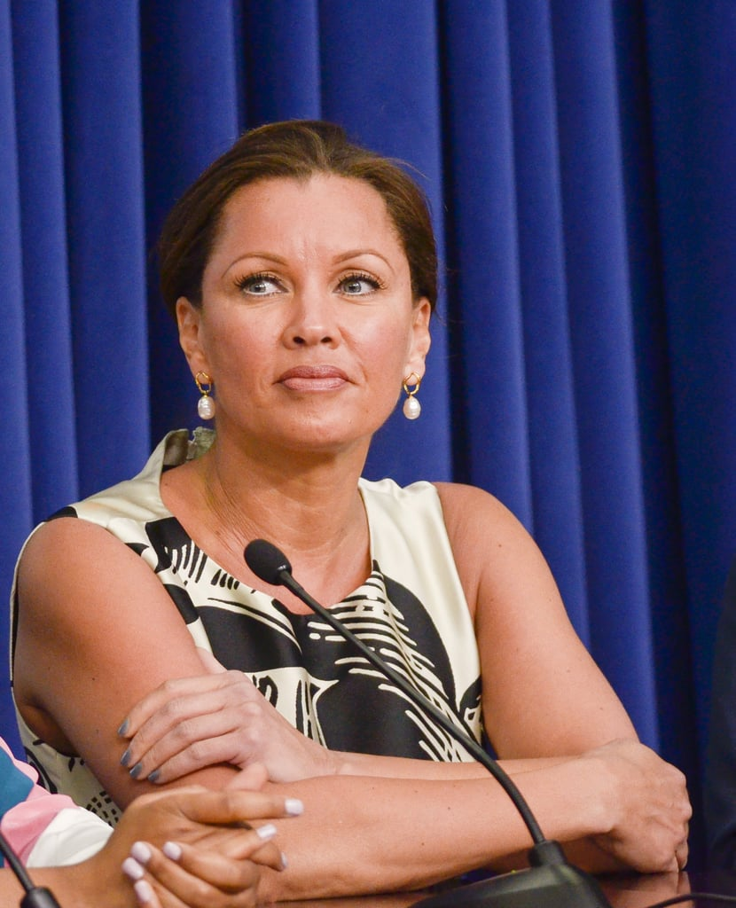 Actress Vanessa Williams spoke with her castmates and Michelle Obama at the event.