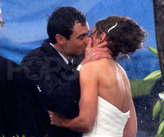 Slide Photo of Jason Mesnick and Molly Malaney's Wedding Kiss