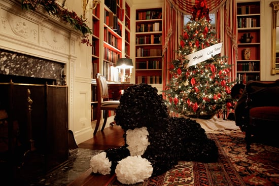Bo likes to relax by the fire, but don't let this one too close: he's made of plastic trash bags!
