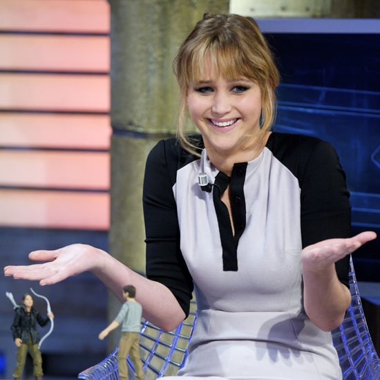 Jennifer Lawrence Shoots A Bow And Arrow On Spanish TV