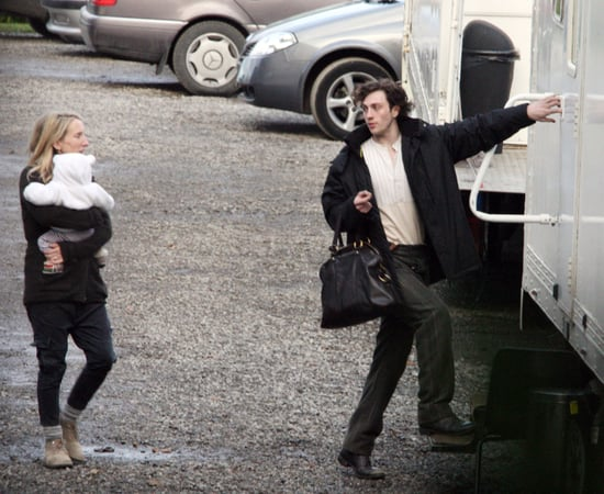 Pictures of Baby Wylda Rae, Sam Taylor-Wood and Aaron Johnson On the Set of Albert Nobbs