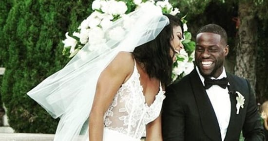 Eniko Parrish Marries Kevin Hart in Two Different Sheer Wedding Dresses