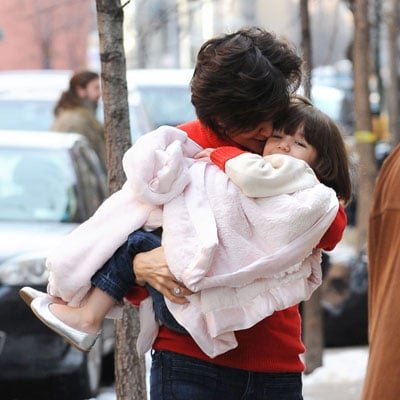 Katie Holmes and Suri Cruise Head Home After Holiday Shopping in NYC