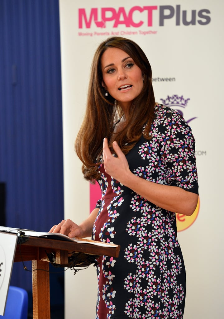 Kate Middleton made a speech during a visit at a primary school in Wythenshawe, Manchester, on April 23.