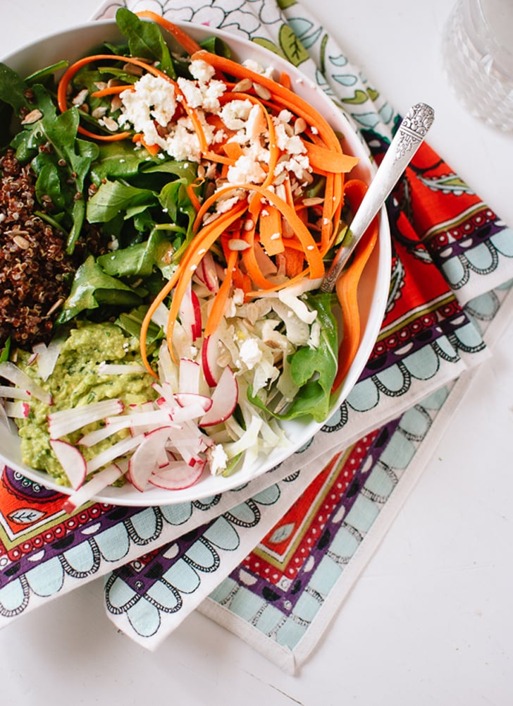 Spring Carrot, Radish, and Quinoa Salad With Herbed Avocado Mash