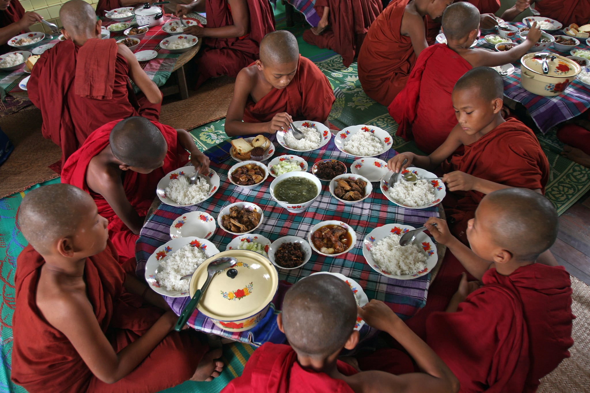 Novice Buddhist monks in Myanmar, tied for most corrupt country.