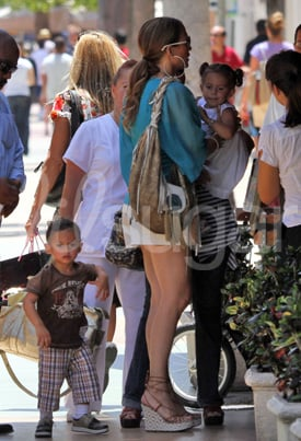 Pictures of Jennifer Lopez, Max Anthony, and Emme Anthony