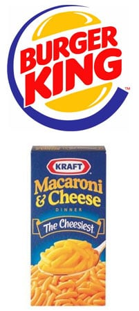 Burger King to Offer Kraft Macaroni and Cheese