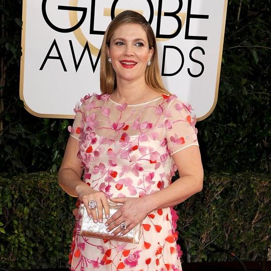 Drew Barrymore Dress on Golden Globes 2014 Red Carpet