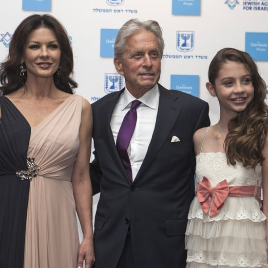 Michael Douglas With Kids on the Red Carpet