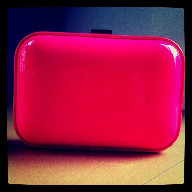 We stumbled upon this perfect Spring-ready clutch in hot pink at Zara.