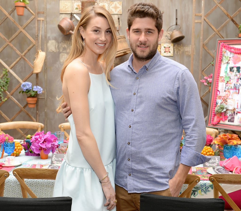 POPSUGAR: There's so much to do when it comes to planning a wedding. Where did the dress fit in? Whitney Port: The dress was definitely the first thing that I wanted to deal with, just because I wanted to get something made, so I wanted to have ample time to do it. I still don't know what it's going to look like. I've given the designer a bunch of different inspiration images, and they're all very different looks, so I am waiting to see what they come back with. But it's really a fun process, once you chose where it's going to be and when it's going to be, just planning all those details and being able to use your creativity is so much fun.  PS: Do you see yourself in a certain type of dress? Something more California-casual or do you think you might go traditional? WP: I don't know! When I pulled my inspiration images, it was everything from like Lauren Bush's wedding, where she has the mock turtleneck with the lace long sleeves down to Kate Moss in a Calvin Klein spaghetti-strap white slip dress.