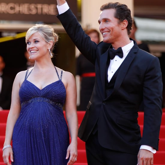 Reese Witherspoon in Blue Versace Dress Cannes Film Festival