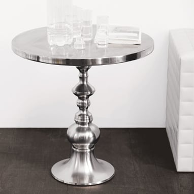 Turned Metal Pedestal Table ($349)