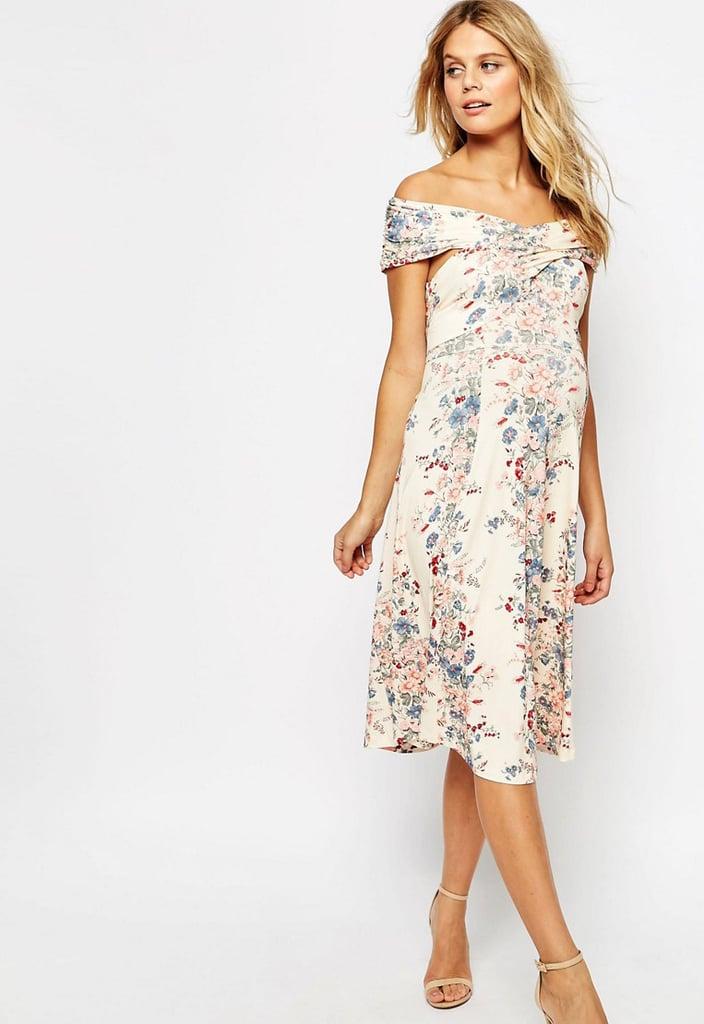 ASOS Twist Shoulder Midi Dress ($57)
