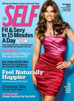 Amanda Peet in Self Magazine
