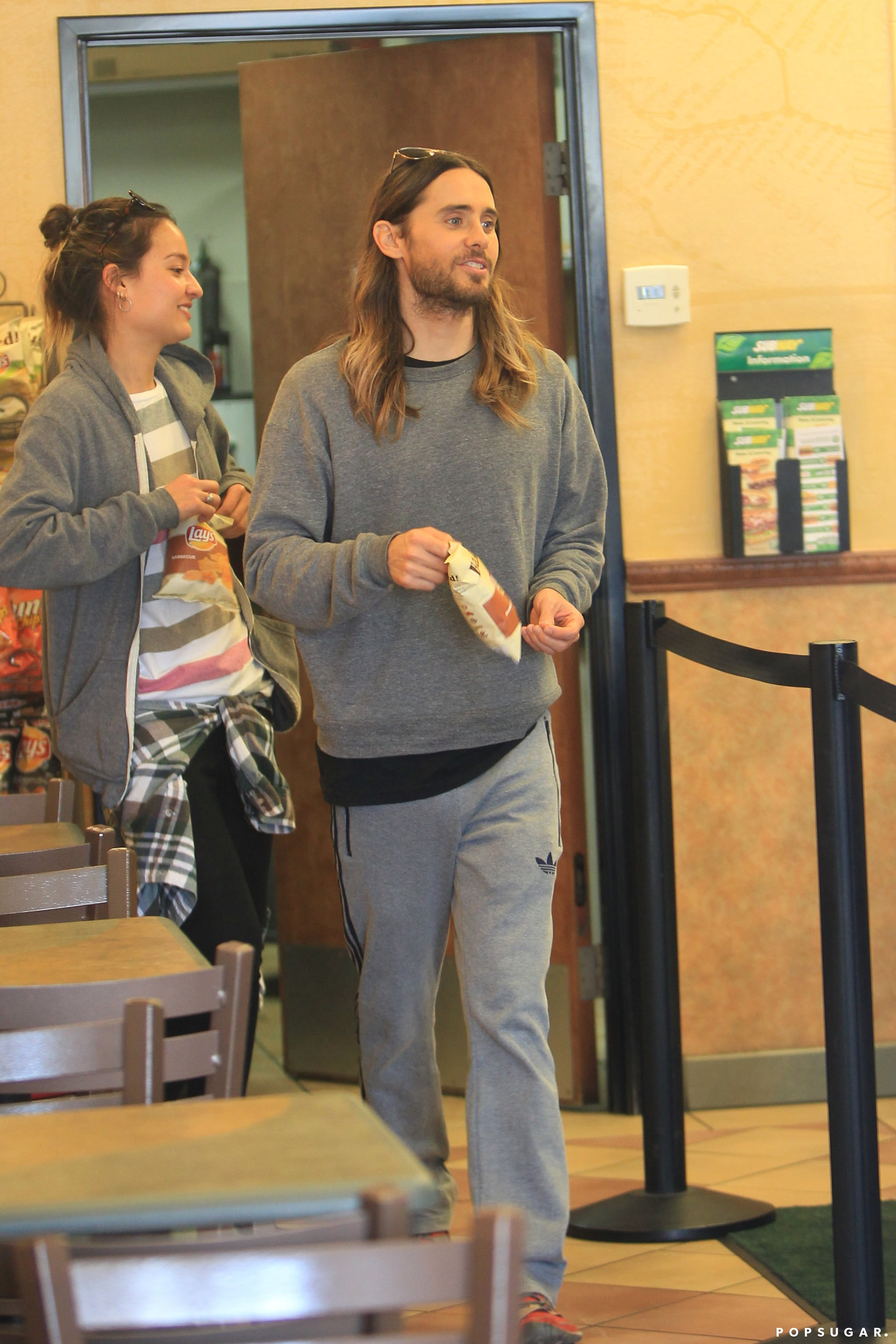 Jared Leto's Hangover Cure? Baked Lays and Subway!