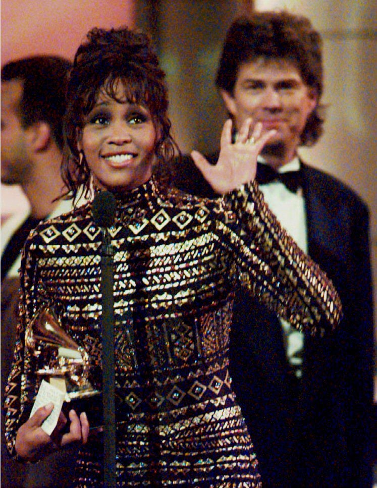 Whitney picked up Grammy Awards for record of the year and album of the year in 1994.