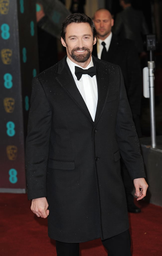 Hugh Jackman donned a stylish ensemble at the BAFTA Awards.