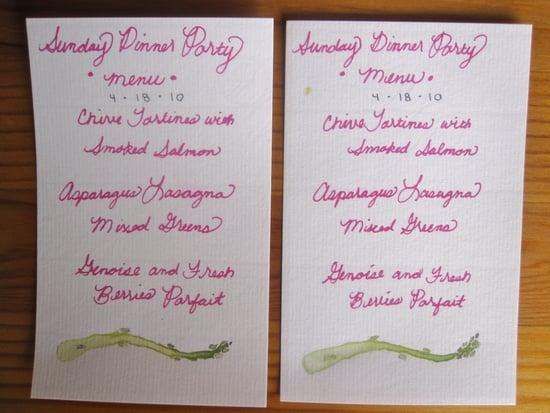 Do You Craft Menus For Dinner Parties?