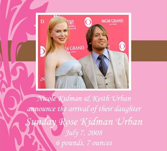 Nicole Kidman Has a Baby Girl!