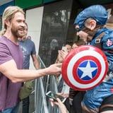 Sorry, Chris Evans, but Chris Hemsworth Just Met the Most Adorable Captain America