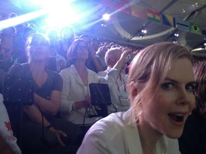 Nicole Kidman shared a photo of herself at Olympic Stadium. Source: Facebook user Nicole Kidman