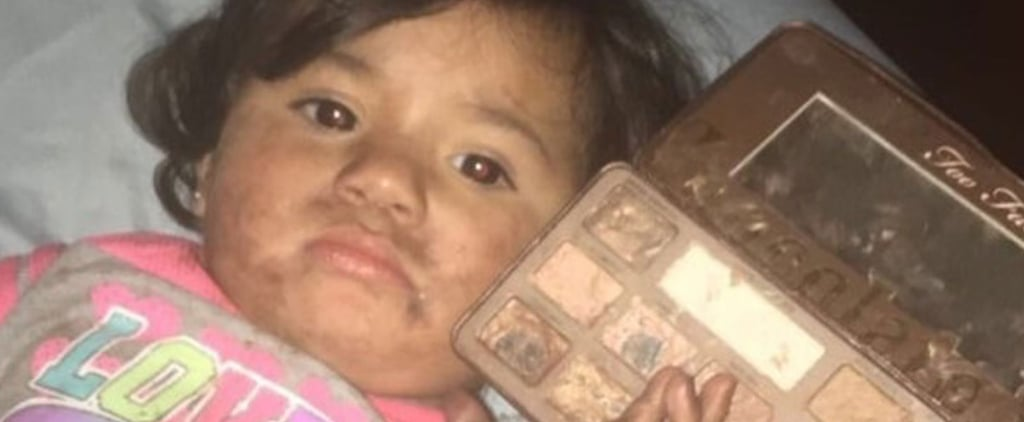 A Toddler Proved the Too Faced Chocolate Palette Smells Good Enough to Eat