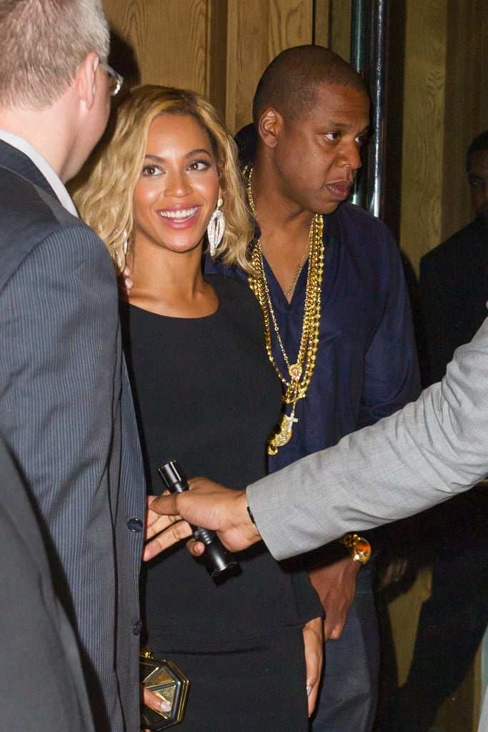 Beyoncé Knowles stepped out with wavy hair in NYC.