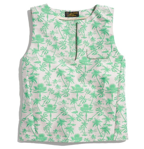 After explaining the wonders of wearing a crop top this season, I'm dead-set on trying the trend myself. I'm looking forward to wearing this Le Mont St. Michele Cropped Hawaiian-Print Tank ($395) with a high-waisted denim pencil skirt — after all, if you're going to go '90s chic, you might as well go all the way. — Britt Stephens